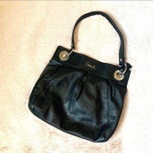 Coach Ashley Hobo Black Leather One Strap Purse